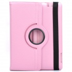 Protective 360 Degree Rotation Holder Leather Case for the New iPad Pink (Mobile Phone Leather Cases Category)