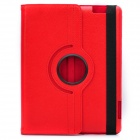 Protective 360 Degree Rotation Holder Leather Case for the New iPad Red (Mobile Phone Leather Cases Category)