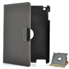 360 Degree Rotation Protective PU Leather Case for iPad 2 / The New iPad Grey (Mobile Phone Leather Cases Category)
