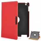 360 Degree Rotation Protective PU Leather Case for iPad 2 / The New iPad Red (Mobile Phone Leather Cases Category)