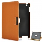 360 Degree Rotation Protective PU Leather Case for iPad 2 / The New iPad Coffee (Mobile Phone Leather Cases Category)
