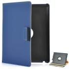 360 Degree Rotation Protective PU Leather Case for iPad 2 / The New iPad Blue (Mobile Phone Leather Cases Category)
