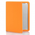Protective PU Leather Smart Cover Case for The New iPad Orange (Mobile Phone Leather Cases Category)