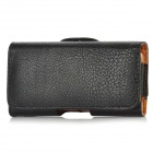 BP463 Lychee Pattern Protective PU Leather Case with Belt Clip for iPhone 5 -- Black (Mobile Phone Leather Cases Category)