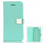MY513 HE-LLO DEERE-GD Ailun PU Leather Flip Open Case for iPhone 5c -- Green (Mobile Phone Leather Cases Category)