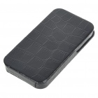 Crocodile Skin Pattern Hard PU Leather Case Cover for iPhone 4 Black (Mobile Phone Leather Cases Category)