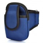 AM567 Zippered Sports Armband Bag Pouch for iPhone 4 -- Dark Blue (Mobile Phone & PDA Holders Category)