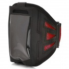 AO995 Sports Mesh Armband for iPhone 5 -- Black Plus Red (Mobile Phone & PDA Holders Category)