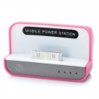 1500mAh Mobile Power Charging Dock Station for iPhone / iPad / iPod Pink Plus White (Mobile Phone Repair Category)