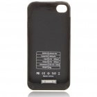 1400mAh Rechargeable External Battery Back Case with Cleaning Cloth for iPhone 4 Black (Mobile Phone Repair Category)