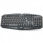 USB Gaming 118 Key Water Resistant Keyboard with Backlight Black (Computer Keyboards Category)