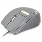 Rapoo V1 USB 800 to 2400DPI Optical Gaming Mouse Grey Plus Black (120CM) (Computer Mice & Presenters Category)