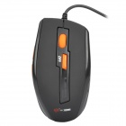 UO954 MCSAITE USB Wired 1000 / 1600DPI Optical Mouse -- Black (150 centimetres Cable) (Computer Mice & Presenters Category)