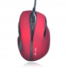 MCSaite USB Optical Mouse Red (130CM Cable) (Computer Mice & Presenters Category)
