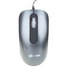 MCSaite USB 2.0 800DPI Optical Mouse with Retractable Cable Black Plus Grey (70CM Cable) (Computer Mice & Presenters Category)