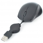 USB 800DPI Optical Mouse with Retractable Cable (68CMale to Femaleull Length) (Computer Mice & Presenters Category)