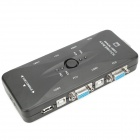 USB 2.0 Manual 4 Port KVM Switch (USB Hubs & Switches Category)