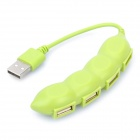 Pea 480Mbps USB 2.0 4 Port HUB Green (6.5cm Length) (USB Hubs & Switches Category)