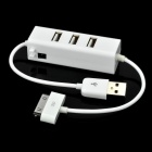 3 Port USB 2.0 HUB with Charging Cable for iPhone and iPad White (USB Hubs & Switches Category)