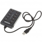 USB 2.0 High Speed 10 Port HUB Black (USB Hubs & Switches Category)