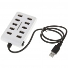 USB 2.0 High Speed 10 Port HUB White (USB Hubs & Switches Category)