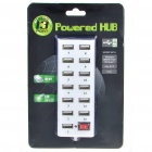 USB 2.0 High Speed 13 Port HUB with Switch Colour Assorted (142CM Cable) (USB Hubs & Switches Category)