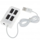 High Speed USB 2.0 4 Port Hub White (USB Hubs & Switches Category)