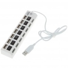 USB 2.0 High Speed 7 Port HUB with Independent Switch White (USB Hubs & Switches Category)