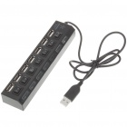 USB 2.0 High Speed 7 Port HUB with Independent Switch Black (USB Hubs & Switches Category)