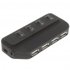 USB 2.0 High Speed 4 Port HUB with Independent Switch Black (USB Hubs & Switches Category)