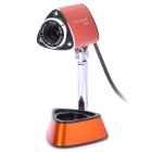 Gucee HD30 300K Pixels USB Digital High Definition Webcam with Microphone Orange Plus Black (120cm) (Computer Webcams Category)