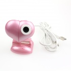 Heart USB 2.0 2.0MP PC Camera Webcam with Microphone / 3 LED Night Vision Light Pink (Computer Webcams Category)