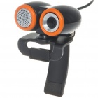 Compact 1.3MP PC USB Webcam with Built In Microphone Black (Computer Webcams Category)