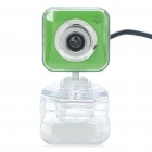 Drive free USB CMOS 300K Pixel Webcam with Clip Green Plus White (Computer Webcams Category)