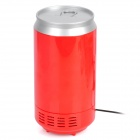 XV535 USB Fridge Beverage Drink Cans Cooler / Warmer Refrigerator -- Red Plus Silver (USB Gadgets Category)