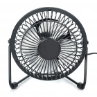 USB Powered 4 Blade Cooling Fan Black (LED Badges Category)