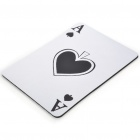 XT903 Poker Spade A Pattern Natural Rubber Mouse Pad Mat -- White (USB Mouse Pads Category)