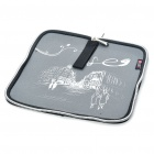 Portable Neoprene Square Mouse Pouch Pad Grey Plus Black (USB Mouse Pads Category)
