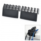 LI378 Cord Cable Drop Clips Ties Divider Organizer -- Black (Cable Management Category)