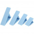 Triangle PVC Cord Ring Clamp Ties Blue (4 Piece Pack) (Cable Management Category)
