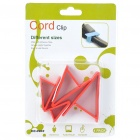 Triangle Wire Cord Cable Clip Organizer Red (4 Piece Pack) (Cable Management Category)