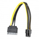 ZR119 SATA 15pin 60 6pin Card Power Connecting Cable -- Black Plus Yellow (20 centimetres) (Computer Hardware Parts Category)