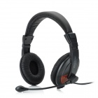 COSONICSL292 Stereo Headphones with Microphone -- Black (Speakers & Earphones Category)
