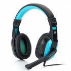 Co-sonic-GDKW908 Stereo Gaming Headphones with Microphone -- Blue Plus Black (Speakers & Earphones Category)