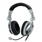 COSONICJW972 Super Bass Stereo Headphones with Microphone -- Silver Plus Black (Speakers & Earphones Category)