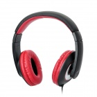 BR657 SH-007 Headphone Headset with Microphone for PC / Laptop -- Black Plus Red (Speakers & Earphones Category)