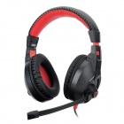 CO-SONIC-GD WI258 Gaming Stereo Headphones with Microphone -- Black Plus Red (3.5 millimetres Plug) (Speakers & Earphones Category)