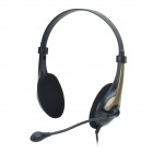 CO-SONIC-GD UO442 Computer's Headphones with Microphone -- Black (3.5 millimetres Plug / 1.85m) (Speakers & Earphones Category)