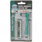 Twin Wrench Screw Driver Set Toolkit (10 in 1) (Professional Tools Category)