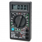 "1.8"" LCD Portable Digital Multimeter Black (1 x 6F22) (Multimeters Category)"